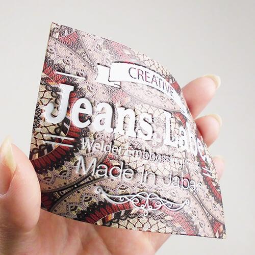 人工皮革 カラープリント+エンボス オリエンタル柄